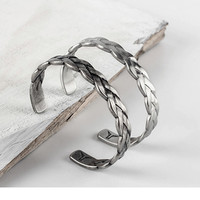 Mens Stainless Steel Twist Bracelet Men Vintage Cuff Bangles Braid Plait Cuff Bangle for Men's Jewelry-in Bangles from Jewelry & Accessories on Aliexpress.com | Alibaba Group