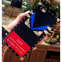 Tiger iphone6lv7plus mobile phone shell all-inclusive edge of the soft shell Iphone 6s protective cover Fendi