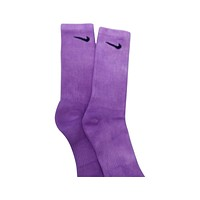 Nike Dri-Fit Tie Dye Solid Purple Socks