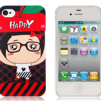 W-Fide Hello Caicai Pattern Protective Case for iPhone 4/4S