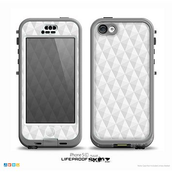 The White Studded Seamless Pattern Skin for the iPhone 5c nüüd LifeProof Case
