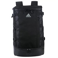 Adidas Fashion new high quality travel large capacity leisure backpack canvas bag Black