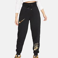 NIKE New Fashion Letter Hook Print Sports Leisure Pants