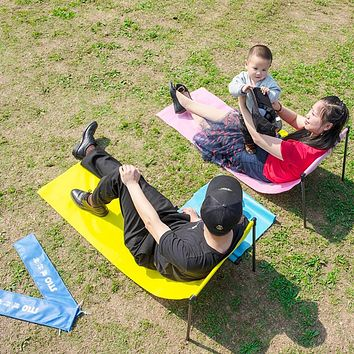 Outdoor Camping Mats Portable Walk-in Chairs Folding Tent leisure Picnic Mat Fishing Beach Hiking Waterproof Stable Metal Travel