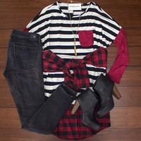 Give It Time Flannel $32.00