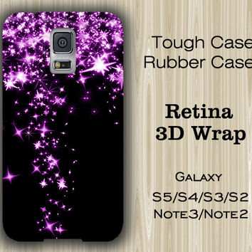 Purple Star Falling Glitter Samsung Galaxy S5/S4/S3/Note 3/Note 2 Case