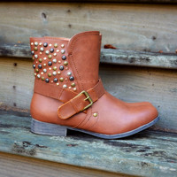 Durango Brown Studded Ankle Boots