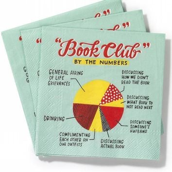 Book Club Cocktail Napkins Pack