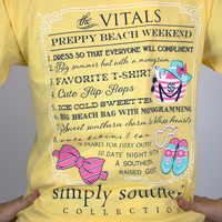 Vitals of Preppy Beach Weekend Simply Southern Tee Shirt