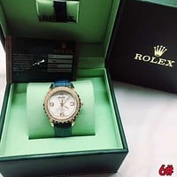"Hot Sale ""Rolex"" Popular Luxury Women Diamond Quartz Watch Movement Wristwatch"