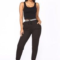 Chill Out Lounge Jogger - Black