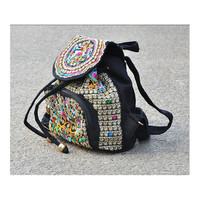 Spring Festival's Gift Yunnan National Style Embroidery Bag Stylish Featured Shoulders Bag Fashionable Woman's Bag   zamioculcas zamiifolia