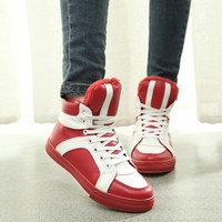womens red winter sports shoes
