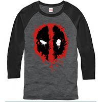 Deadpool Splatter shirt - Mens 3/4 sleeve Tshirt