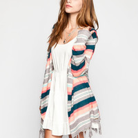 Rip Curl Nomad Womens Hooded Cardigan Grey Combo  In Sizes