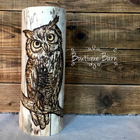 Owl/Owl Art/Barn Owl/Farmhouse Decor/Handmade/Fireplace Mantle Decor/Rustic Home Decor/Woodland Forest Decor/Owls/Country Home Decor/ Gift
