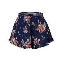 Lightweight Crinkled Ruffled Flowy Summer Shorts with Stretch (CLEARANCE)