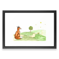Society6 The Little Prince And Framed Print