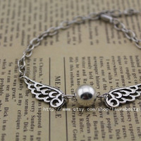 silver Snitch jewelry the harry potter bracelet antique jewelry steampunk gift