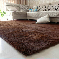 1PCS 80x120cm Explosion Models Silky Carpet Mats Sofa Bedroom Living Room Anti-Slip Floor Carpets Bedroom Soft Mat Home Supplies