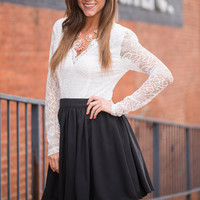 Falling For Lace Dress, Black