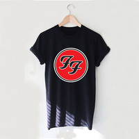 FF Circle Foo Fighters Design Style White and Black Reaclothstore