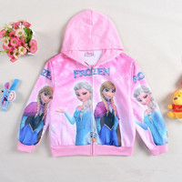 Hot Sale Fashion Hoodies Frozen Elsa Anna Hoodies Kids 2 Color Long Sleeved Hoodies Children Top Clothing Holiday Gift.