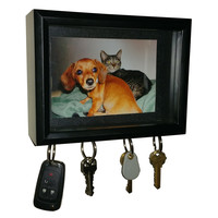 """Magnetic Key Holder and Shadowbox Picture Frame, 5""""x7"""", by Splendid Serendipity"""
