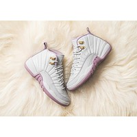 Air Jordan 12 GS Retro Heiress Plum Fog Pink AJ12 Sneakers