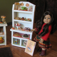 """Baker's Rack and Cake Stand - Sweet Shop Cafe / Bakery Set for American Girl / 18"""" dolls - MAY 2014 SHIPPING ONLY"""