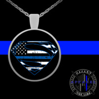 Thin Blue Line SM Necklace For Women