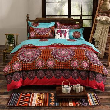 Bohemian 3PCS 3D bedding sets Boho Mandala duvet cover set  queen king size Cotton folk-custom Bed set for Halloween Christmas