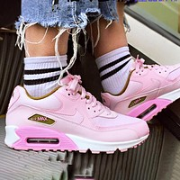 NIKE Air Max 90 Sneaker Sport Shoes Contrast Shoes Pink