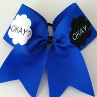 3inch BIG Cheerbow The Fault In Our Stars! OKAY? OKAY.