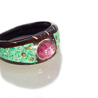 Coconut Star Ruby Ring , Size 9.5 , Coconut ring , Gemstone ring , Statement ring , Mothers ring , Birthstone ring