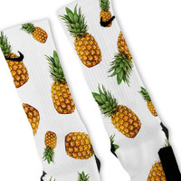 Pineapple Frenzy Custom Nike Elite Socks