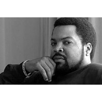 """Ice Cube poster Metal Sign Wall Art 8in x 12in 12""""x16"""" Black and White"""