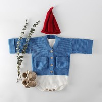 MILANCEL 2018 Baby Girls Winter Clothes Knitted Baby Cardigan Pocket Style Baby Boys Sweaters Cardigan Baby  Clothing