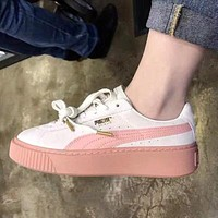 PUMA Sponge Shoes Thicker Sole Increase Fashionable Wild Women's Shoes