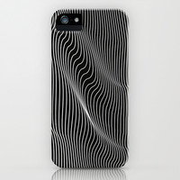 Minimal curves black iPhone & iPod Case by Leandro Pita