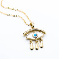 Evil eye tears necklace