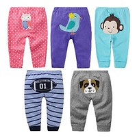 5Pcs/lot Baby Pants Autumn Baby Girl Clothes Cartoon Newborn Pants Cotton Baby Boy Clothing Roupas Bebe Infant Baby Trousers