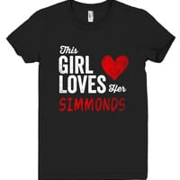 This Girl Loves her SIMMONDS Personalized T-Shirt