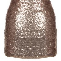 Ball Drop Countdown Sequin Mini Skirt in Gold | Sincerely Sweet Boutique