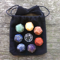 8 Piece Dodecahedron Chakra Stone Set