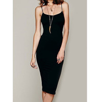 Sexy Spaghetti Strap Bodycon Solid Color Women'S Dress Sale LAVELIQ