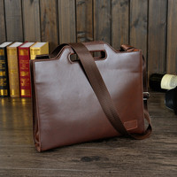 Vintage Mens Leather Cross Body Briefcase