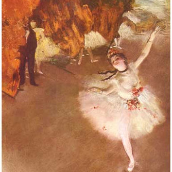 Edgar Degas Dancer on Stage Poster 11x17