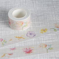1 Pc / Pack New Design Flower design DIY Japanese Washi Paper Tape Adhesive Sticky Decorative Sticker