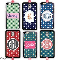 Monogram iPhone 6 Plus case USA Star Samsung galaxy S3 Cover Note 4 5S S4